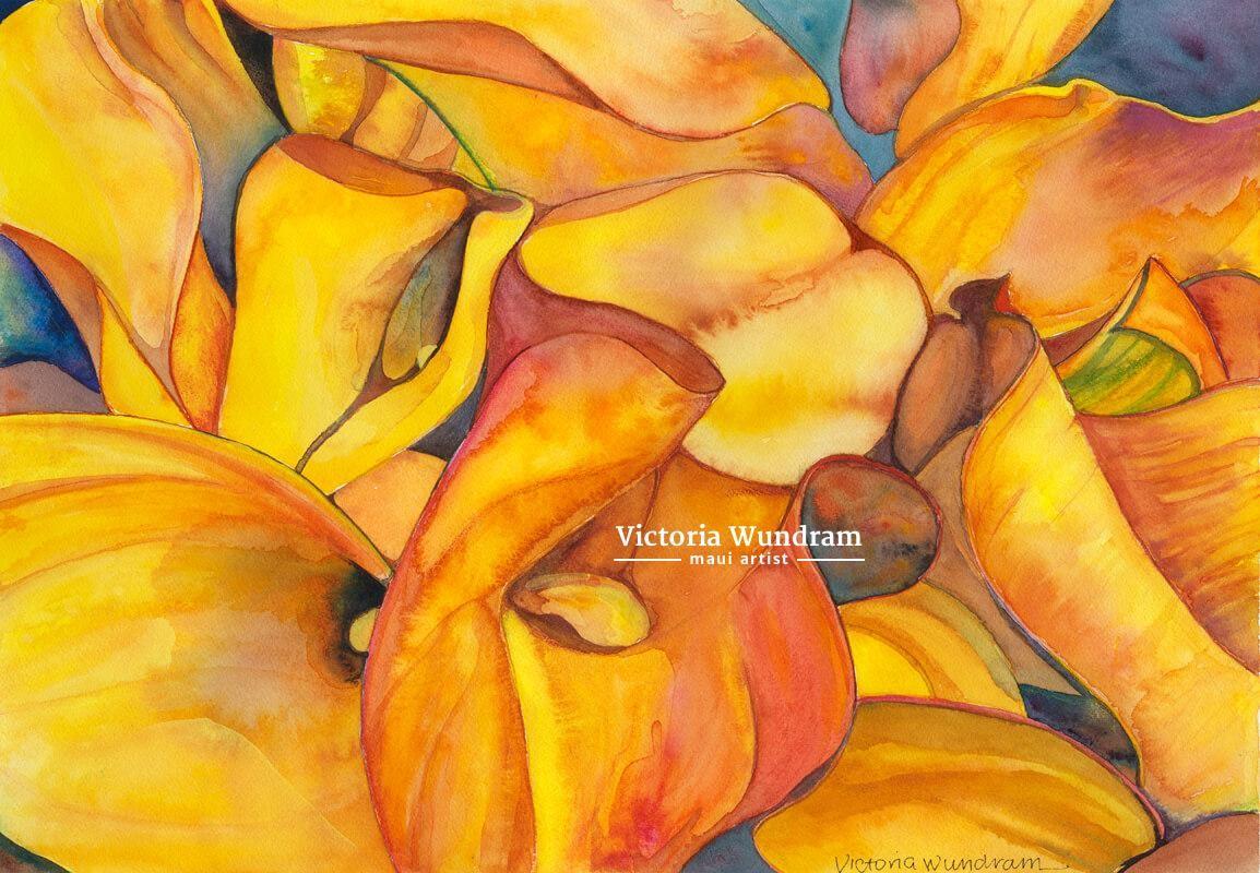 Victoria Wundram | Maui Artist | Calla Lilies