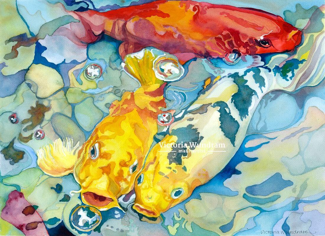 Victoria Wundram | Maui Artist | Hungry Koi
