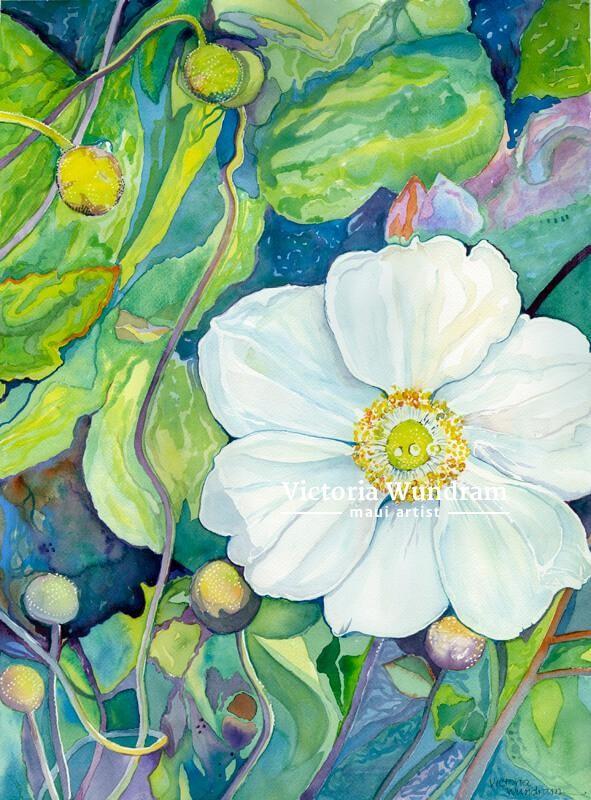 Victoria Wundram | Maui Artist | Japanese Thimbleweed