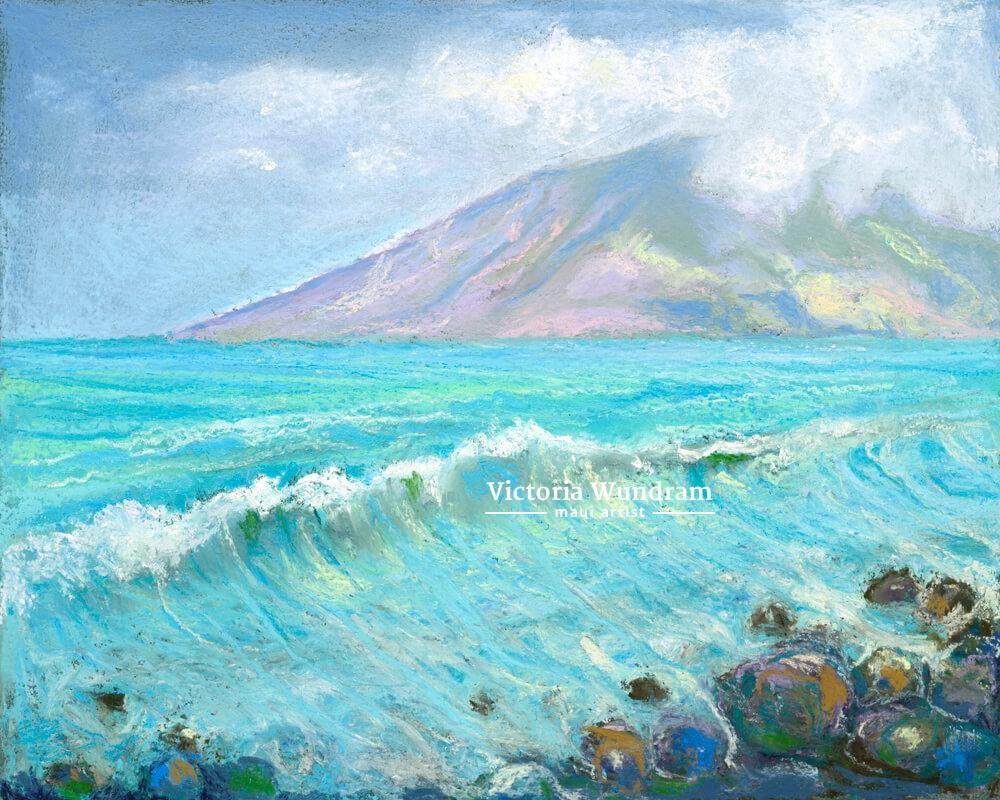 Victoria Wundram | Maui Artist | Lanai From Puamana