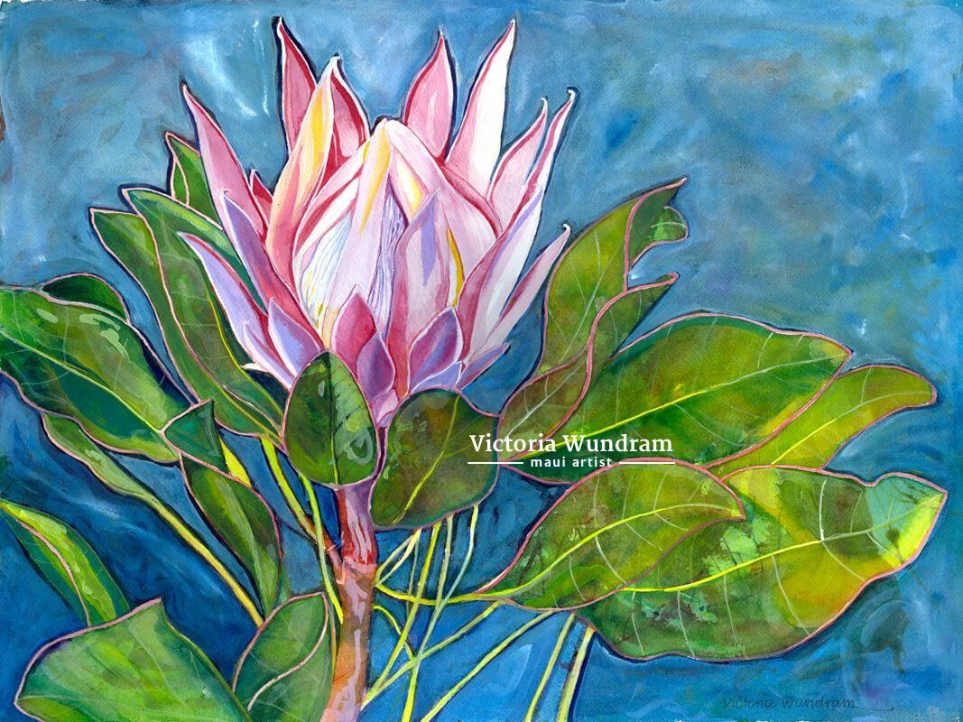 Victoria Wundram | Maui Artist | Lavender Farm Protea