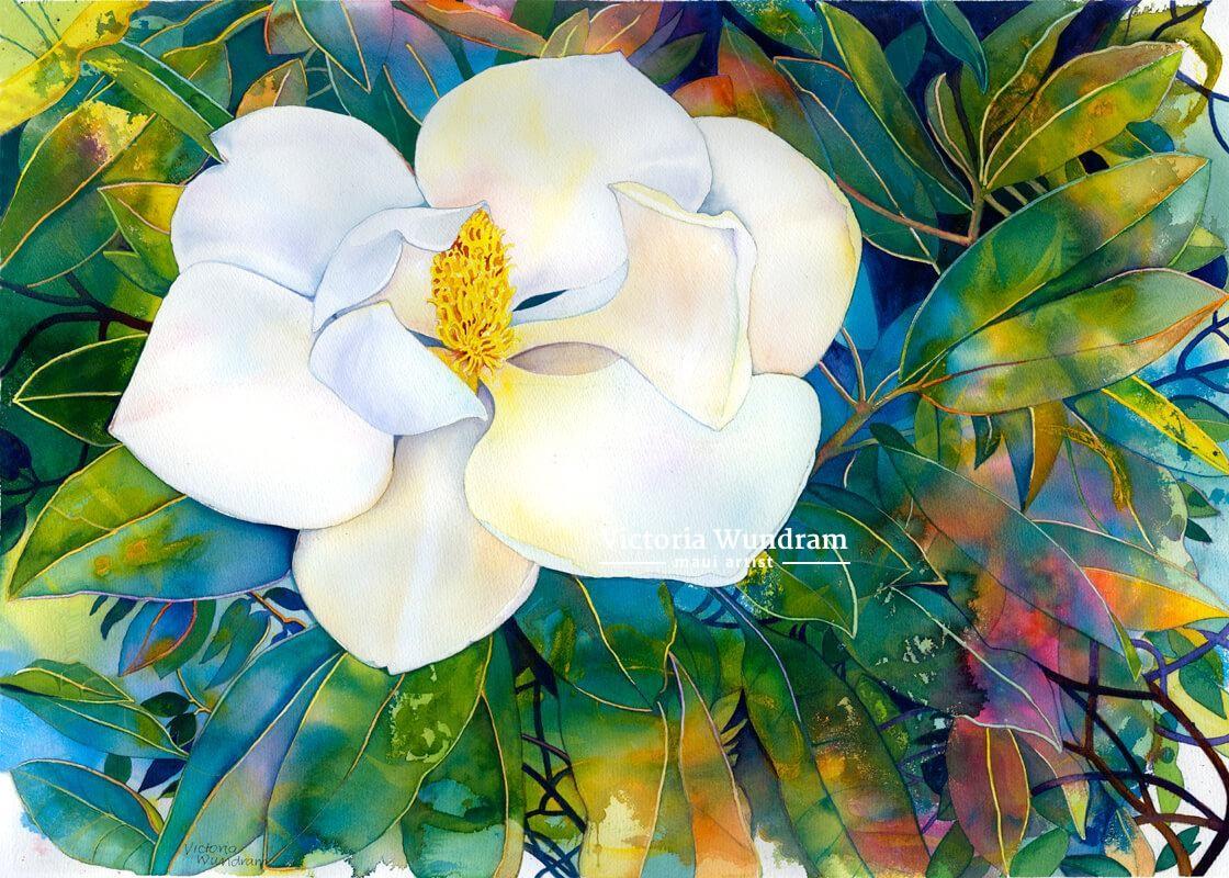 Victoria Wundram | Maui Artist | Magnolia
