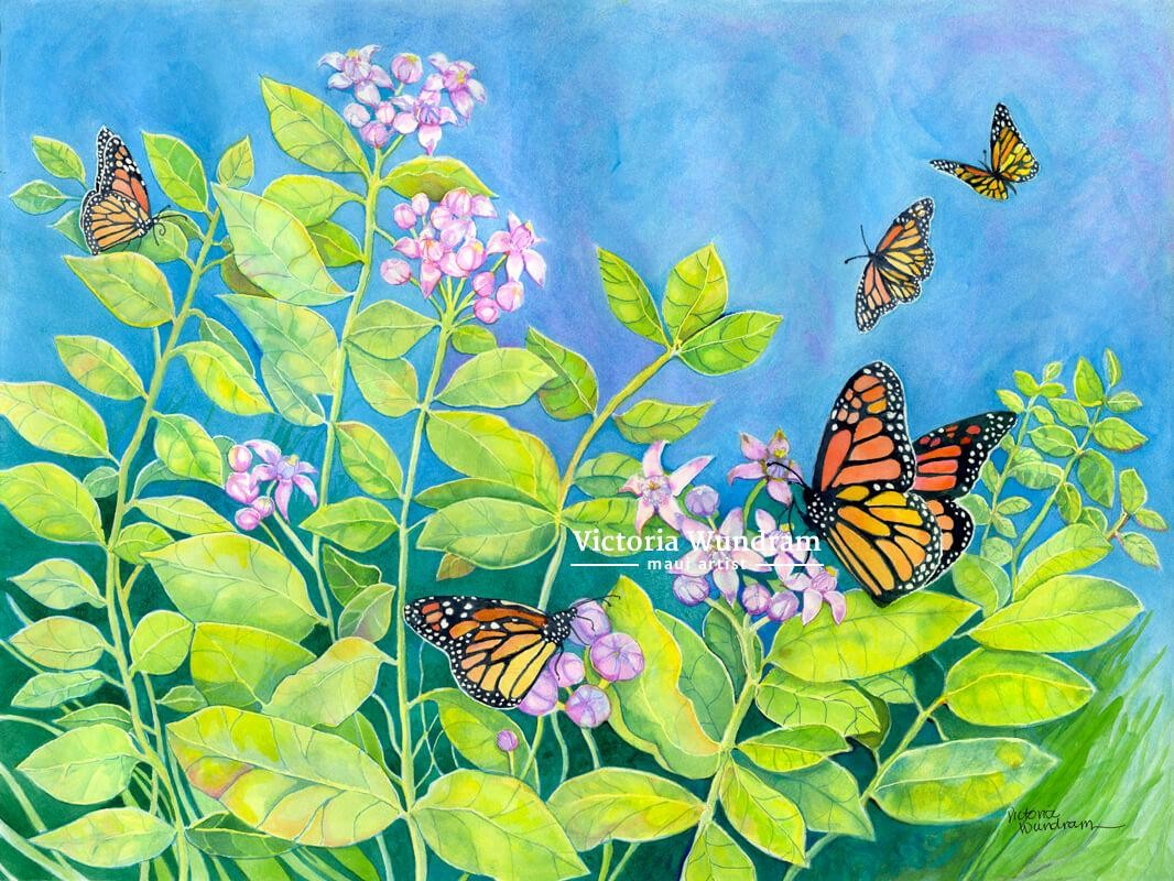 Victoria Wundram | Maui Artist | Monarchs