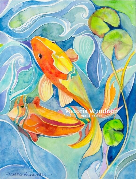 Victoria Wundram | Maui Artist | Orange and Yellow Buddies