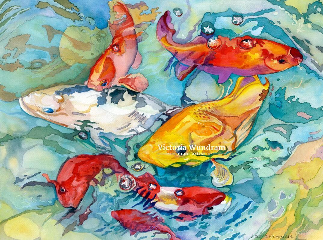 Victoria Wundram | Maui Artist | Redondo Koi