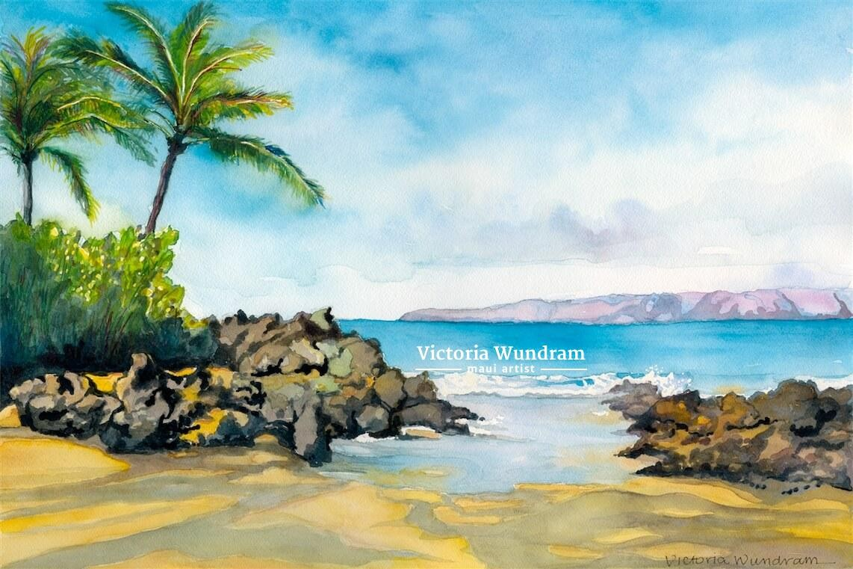 Victoria Wundram | Maui Artist | Secret Beach
