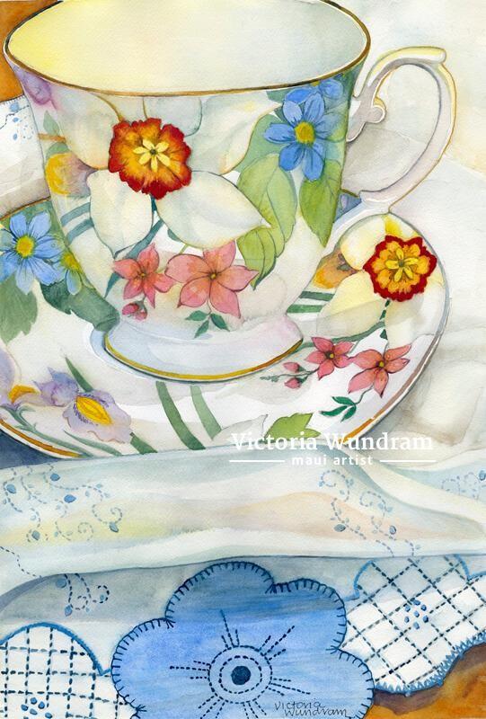 Victoria Wundram | Maui Artist | Tea Time