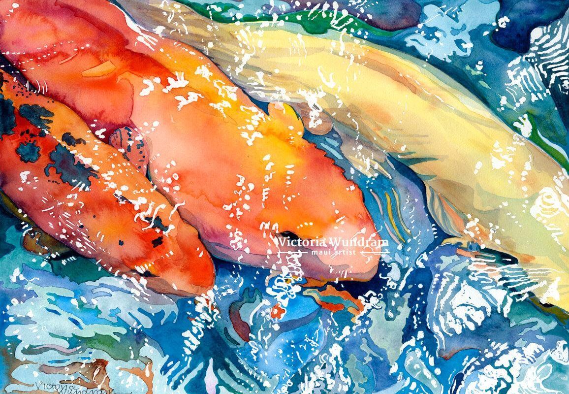 Victoria Wundram | Maui Artist | Westin Koi #1