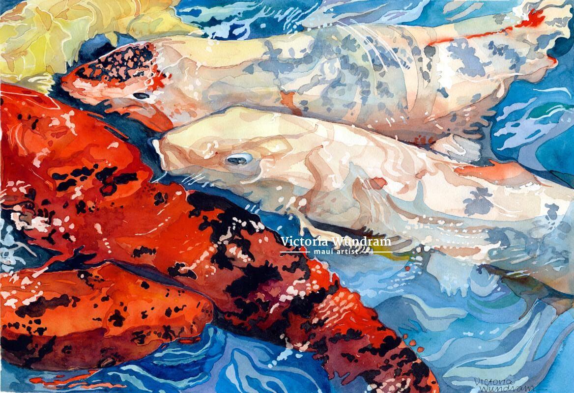 Victoria Wundram | Maui Artist | Westin Koi #2